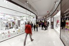 Arenas shopping center in Barcelona, Spain. Featuring our TRON and RAY LED lighting.  