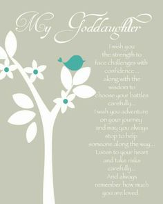 Goddaughter Quotes Gifts Godchild Gift Niece Sayings Baptism Family