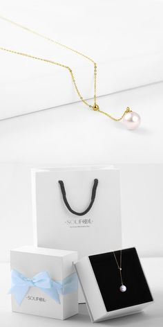 18K gold sea pearl ice series necklace! Click for details.