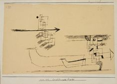 Paul Klee  'Beschleunigter Apostel' (Accelerated Apostle) 1922  Pen on paper on cardboard  18.7 x 29 cm
