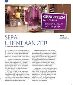 Artikel SEPA in Ledenmagazine