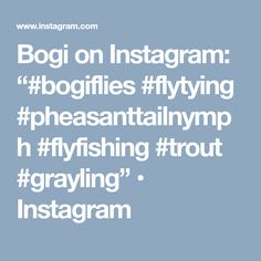 "Bogi on Instagram: ""#bogiflies #flytying #pheasanttailnymph #flyfishing #trout #grayling"" • Instagram"