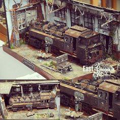 "1,675 Likes, 11 Comments - Usina dos Kits (@usinadoskits) on Instagram: ""Beautiful train diorama at Moson model show 2015. Modeler Torgeir Fosshaug #scalemodel…"" #modeltrainkits #lionelhotrains"