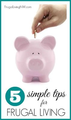5 Simple Tips for Fr 5 Simple Tips for Frugal Living- The frugal life definitely has its ups and downs. Some months are better than others but its a constant learning process. Here are 5 simple tips to frugal living. Ways To Save Money, Money Tips, Money Saving Tips, Saving Ideas, Frugal Living Nw, The Frugality, Baby On A Budget, Savings Planner, Frugal Tips