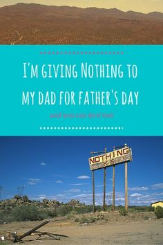 I'm giving Nothing to my dad for Father's Day - and you can do it to! -by http:/wonderluhst.net