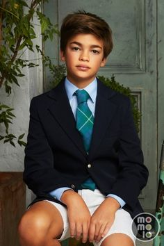 Look moda infantil de Nícoli con Americanas / Blazers Nícoli, Corbatas Nícoli, Camisas Nícoli, Pantalones cortos / Shorts Nícoli