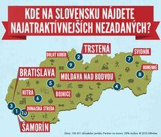 Kde na Slovensku nájdete  najatraktívnejších nezadaný #infografiky #mapa #zmyselnosť