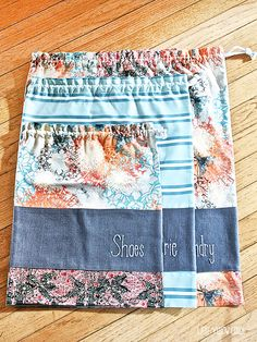 "Whether you travel near or far ... quick overnights or long tours, one of  our favorite ""civilized"" ways to pack our luggage is with travel bags.   These bags bring not only organization to your luggage, but a bit of  style.     xoxo Karen June  Printable PDF  Printable Supply List and Directions PDF  Supplies:       * 2 yds. cotton fabric (for shoe and laundry bags)*     * 1/2 yd. contrasting cotton fabric  (for lingerie bag)*     * 1/3 yd. linen fabric*     * 3 yds.  cotton cording…"
