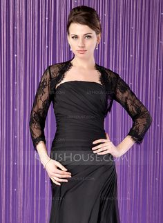 Wraps - $42.99 - 3/4-Length Sleeve Lace Special Occasion Wrap (013024284) http://jjshouse.com/3-4-Length-Sleeve-Lace-Special-Occasion-Wrap-013024284-g24284