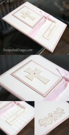 First Communion Card  #communion #cross #card