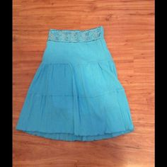 "Selling this ""Aqua Colored Beaded Skirt - NWOT"" in my Poshmark closet! My username is: nyreecox. #shopmycloset #poshmark #fashion #shopping #style #forsale #WANT #Dresses"