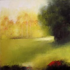 "Sheep Pasture #20  acrylic on canvas  24""x24"" by  Irma Cerese"