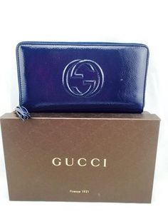 Gucci Blue Patent Leather Large Continental Wallet. Get the lowest price on Gucci Blue Patent Leather Large Continental Wallet and other fabulous designer clothing and accessories! Shop Tradesy now