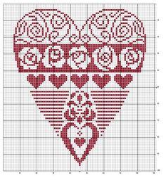 un solo color Just Cross Stitch, Cross Stitch Heart, Blackwork Embroidery, Cross Stitch Embroidery, Quilt Stitching, Cross Stitching, Cross Stitch Designs, Cross Stitch Patterns, Graph Paper Art