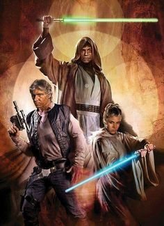 This would have been great to see in the Force awakens, especially Master Jedi Leia Organa