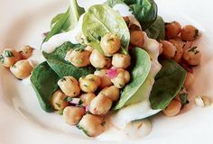 Chickpea and Spinach Salad