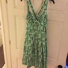 Beautiful Vintage Inspired dress sz 10 Re-posh , the dress is NWT , lined in the breast area. Pleats all around, hidden zipper in the back, halter style ND New Direction Dresses Midi