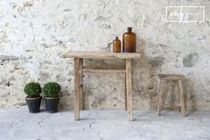 Simple and trendy this shabby chic console table is made out of old wood which gives it a style as 'directly from the workshop'.  This is a real character furniture which can be easily combined with any interior style no matter if in shabby chic style or a modern interior design. Every console is a unique because the table tops shows different grains.