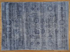 9' x 12' Silver Blue Tabriz Wool and Silk Hand Knotted Oriental Rug Sh20201/ my fav.