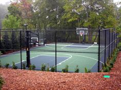 Private Basketball Court in the backyard