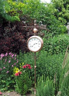 I'd love to have this copper outdoor clock and thermometer.