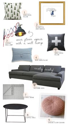 Decorating idea for a small living room with a home office by myparadissi.com