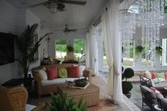 Wonderful outdoor patio all decked out for an evening soiree