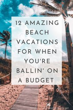 12 Cheap beach vacation destinations UNREAL CHEAP BEACH DESTINATIONS guide to paradise on a budget Here are 12 destinations I can personally attest to not JUST being gorgeous, also, very affordable too! Cheap beach destinations… - Travel Destinations B Cheap Travel, Budget Travel, Travel Ideas, Travel Tips, Cheap Places To Travel, Travel Info, Travel Packing, Travel Backpack, Travel Advice