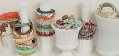 Vasinhos para guardar braceletes e pulseiras