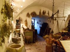 The Herb Room, Heidelberg Castle ~~ i know this is medieval, but i wanna hang herbs in my kitchen Interior Exterior, Home Interior, Interior Decorating, Interior Design, Decorating Ideas, Gothic Interior, Witch Cottage, Witch House, Hanging Herbs