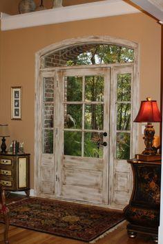 Distressed door...love it!