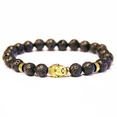 BRACELET LAVASTONE BUDDHA PERLES 8MM: http://everythinghiphop.fr #bracelet #buddah #streetwear Out of stock