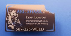 Custom Shape Etched Metal Business Card | #Metal #business #cards are available in many different sizes and models. http://www.metalwoodbusinesscards.com/metal-business-cards/