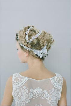 romantic wedding hair ideas #weddinghair #bride #weddingchicks http://www.weddingchicks.com/2014/03/03/2014-claire-pettibone/