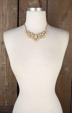 Shop Lizard Thicket - Daisy Bib Necklace in Nude, $24.50 (http://www.shoplizardthicket.com/daisy-bib-necklace-in-nude/)