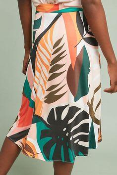 Slide View: 3: Tropical A-Line Skirt
