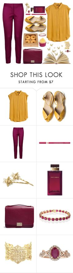 """For a busy and happy day"" by styleskater7 ❤ liked on Polyvore featuring H&M, Grace, STELLA McCARTNEY, Bourjois, Dolce&Gabbana, Lauren Merkin, Effy Jewelry and IaM by Ileana Makri"