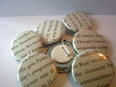 Upcycled Hunger Games Pinback Badge by TheHomemadeHaven on Etsy, £1.25
