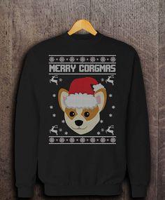 a242ba7a9f6c Merry Corgmas Xmas Jumper Funny Corgi Ugly Christmas Sweater. Cool Vibes  Store