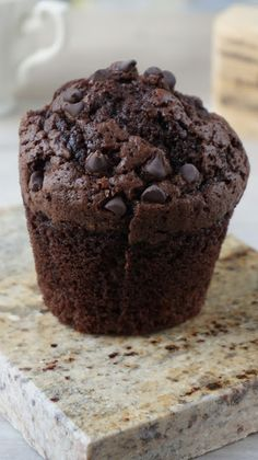 Muffinki czekoladowe Snickerdoodle Muffins, Applesauce Muffins, Vegan Muffins, Types Of Cakes, Chocolate Muffins, Oreo, Cake Recipes, Food And Drink, Sweets