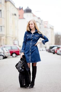 The denim dress and a styling problem - The Golden Bun - Lifestyle & Fashion Blog from Munich