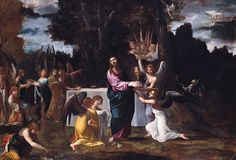 Christ in the Wilderness, Served by Angels, Ludovico Carracci, ca. 1608