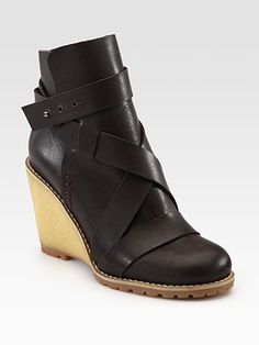 See by Chloe - Leather Wedge Ankle Boots