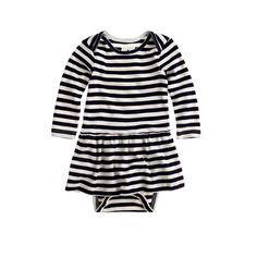 This is an essential easy outfit in one, specially designed with a wide envelope neckline for quick changes. It's made from soft cotton and finished with a ruffled skirt—and loads of stripes—so it's as cute as it is comfy.  <ul><li>Please note that sizes are measured in months.</li><li>Cotton.</li><li>Machine wash.</li><li>Import.</li><li>Online only.</li></ul>