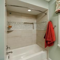 Transitional Single Bath With Neutral Colors