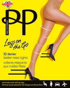 Pretty Polly Legs On The Go - 10 Denier Ladder Resist Tights