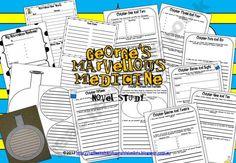 George's Marvelous Medicine Novel Study Miss-N Shop -   Teachers Notebook