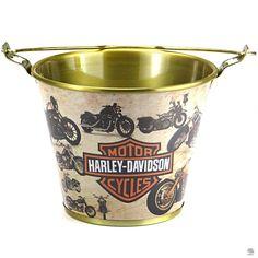 BALDE DE GELO PARA CERVEJA MOTOS HARLEY DAVIDSON Balde de Gelo para Cerveja Motos Harley Davidson em alumínio com abridor nas alças - 31 cm de diâmetro