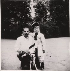 Tsarevich Alexei with sailor (Derevenko) assigned to look after him. Derevenko's two sons would often play with Alexei.