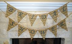 Bridal Shower Printed Burlap Banner Personalize by TheCraftyAggie, $25.00 #Wedding #Bride #Burlap #Shower #Decoration